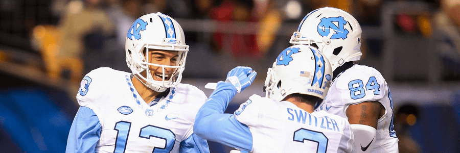 The Tar Heels are favored in the betting lines against Duke in Week 4.