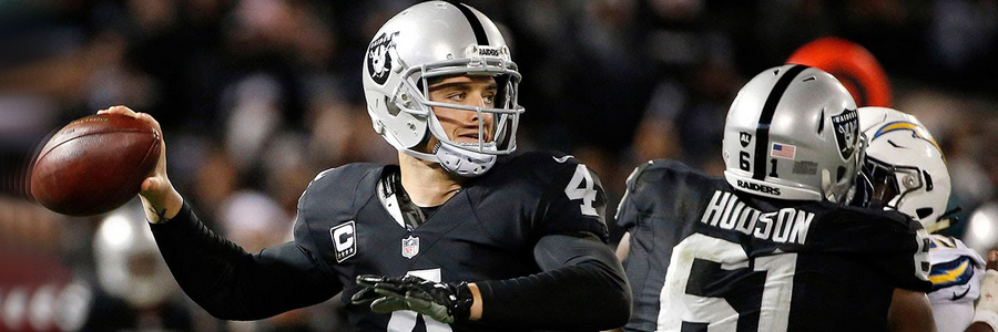 Raiders are slight underdog at the NFL Week 8 Odds.