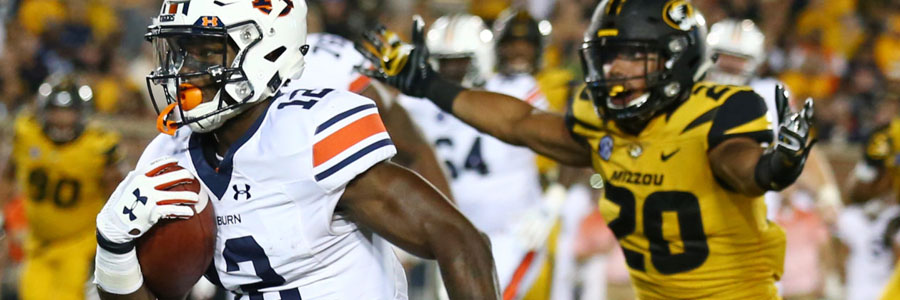 The Auburn Tigers are huge favorites in College Football Week 5.