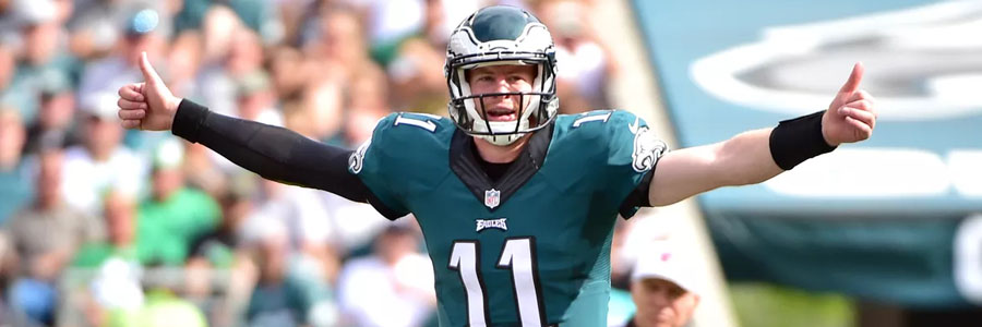Carson Wentz and the Eagles come in as the Week 11 SNF Odds favorites.
