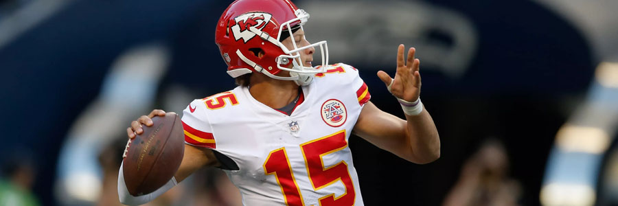The Chiefs are favorites to win the NFL Conference Round against the Patriots.