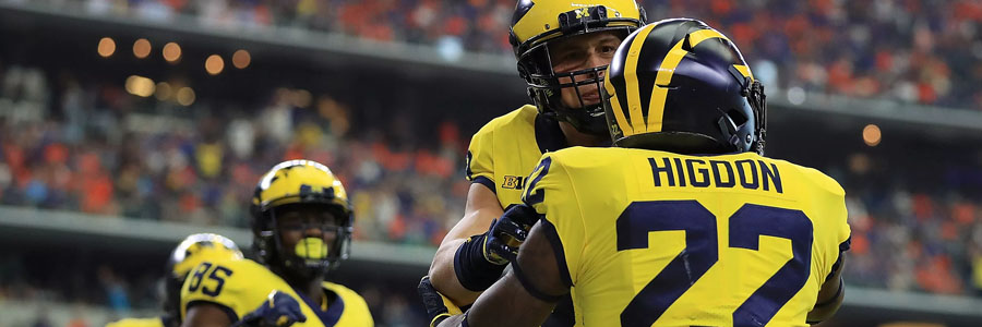 Michigan is one of the favorites at the latest College Football Championship Odds.
