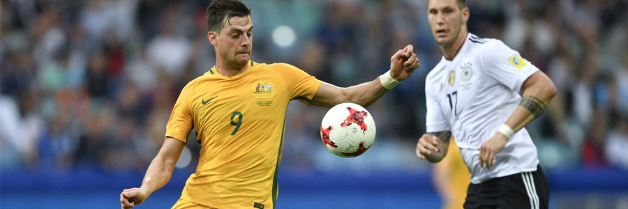 Australia is the underdog in the soccer odds against Chile.