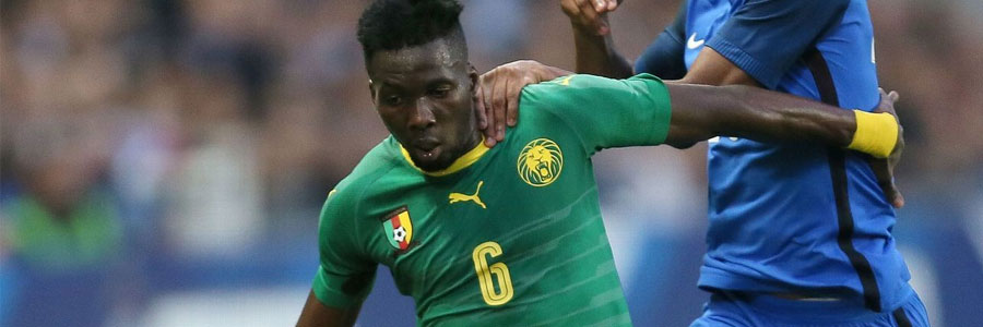 Cameroon is an underdog in the soccer odds against Australia.