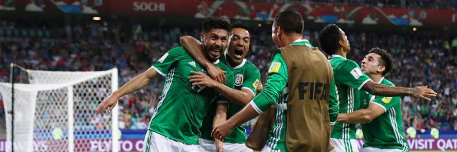 Mexico is the underdog in the soccer odds against Germany.
