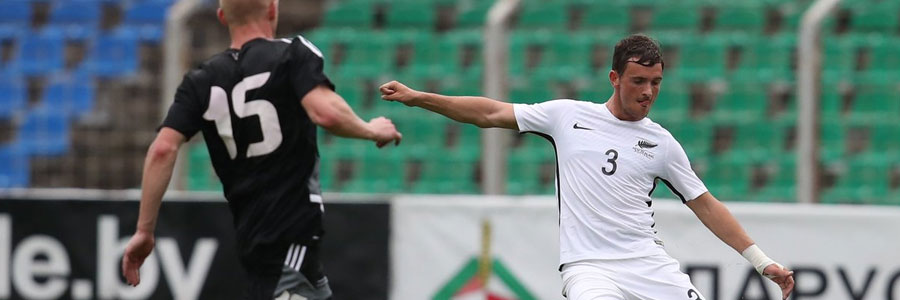 New Zealand is the underdog in the soccer odds against the Russia.